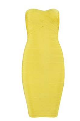 Assorted Colours Sweetheart Bandage Tube Dress