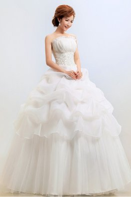 Seashell Bodice Wave Skirt Wedding Ball Gown