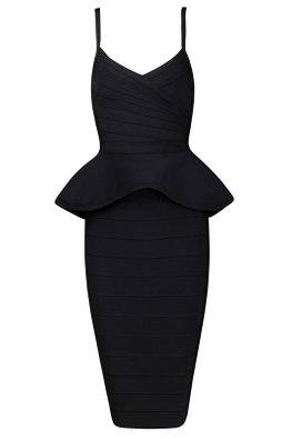 Assorted Colours 2-pc Peplum Bandage Dress (Express)