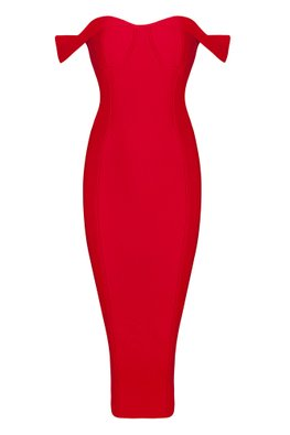 Assorted Colours  Sweetheart Brassiere Off-Shoulder Bandage Dress