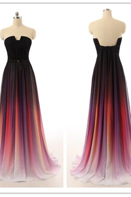 Violet Ombre Floor Length Gown
