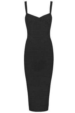 Black Sweetheart Cross Bandage Dress (Express)