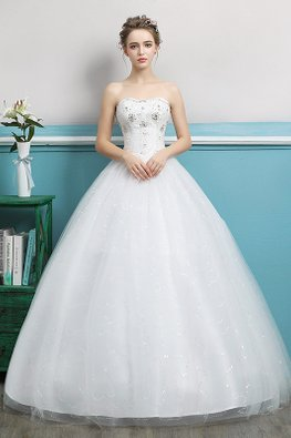 Sweetheart Sequins Twinkle Skirt Wedding Gown