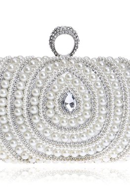 Assorted Colours Pearls Bejeweled Clutch