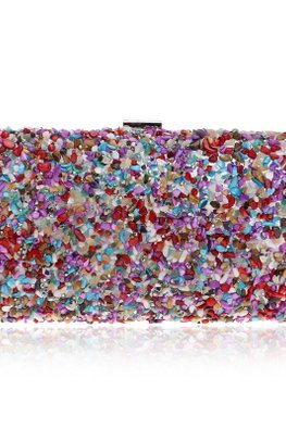 Rainbow Pebbles Clutch