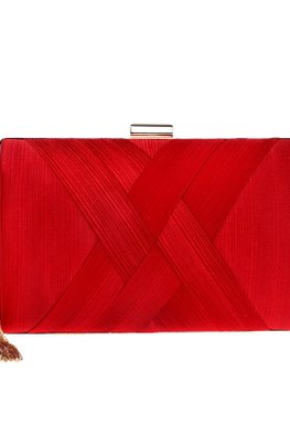 Assorted Colours Rectangular Double Cross Clutch Bag