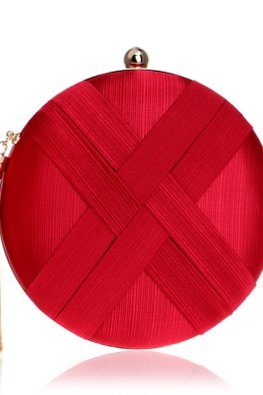 Assorted Colours Round Double Cross Clutch Bag