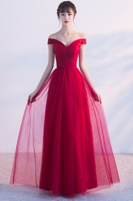 Assorted Colours Sweetheart Off-Shoulder A-line Gown