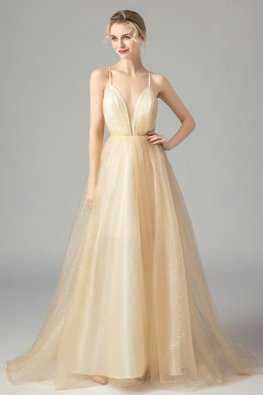 Champagne Pixie Dust Cross Back Gown