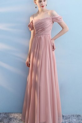 Pink Strap Cold-Shoulder Dress