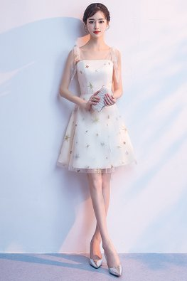 Champagne Tube Twinkle Fairy Mini Gown