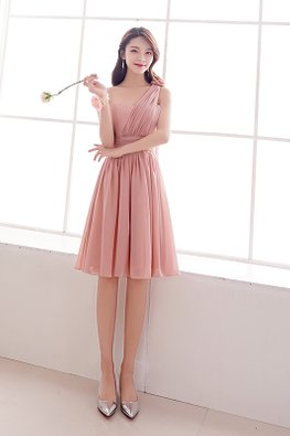 Pink Sweetheart One-Shoulder Rose Lace-up Dress