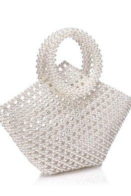 Off-White Diamond Shaped Pearl Bag