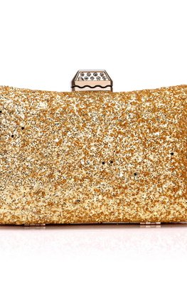 Assorted Colours Rectangular Glitter Pouch