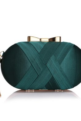 Assorted Colours Rounded Double Cross Clutch Bag