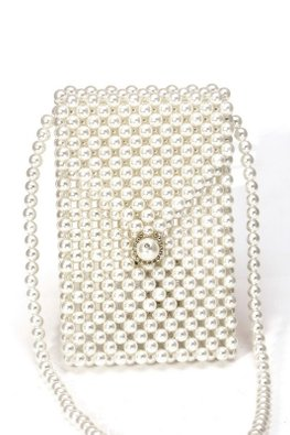 Assorted Sizes Faux Pearls Handphone Pouch