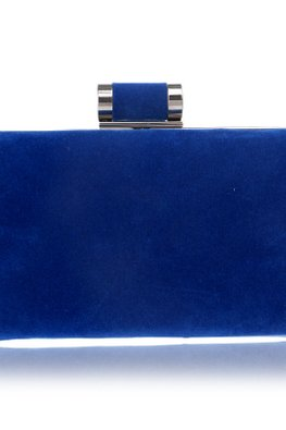 Assorted Colours Minimalist Velvet Clutch