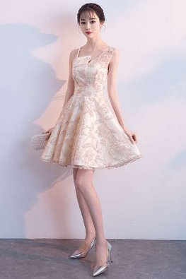 Assorted Colours Asymmetrical Neckline Ribbon Lace Gown