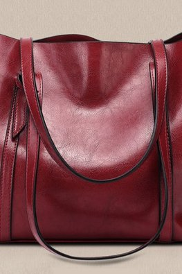 Assorted Colours Roomy Leather Bag