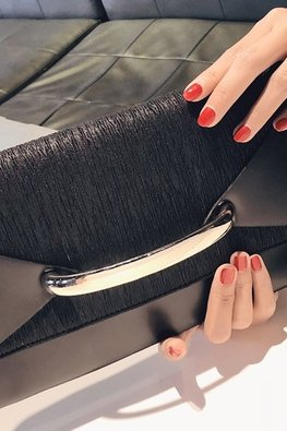 Assorted Colours Envelope Clutch Contrast Colour Shoulder Bag