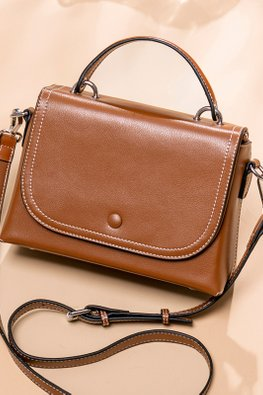 Coffee / Brown Envelope Flap Bag