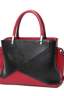 Black Red / Blue Pink Colour Block Hand/Sling Bag
