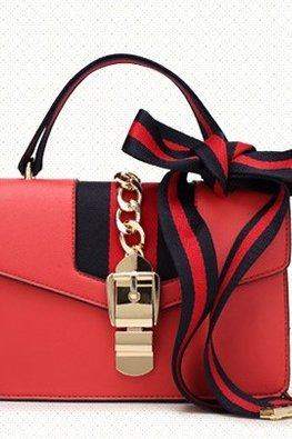Assorted Colours Vintage Duo Strap Shoulder Bag