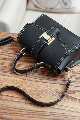 Assorted Colours Buckle Shoulder Bag