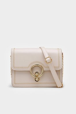 Assorted Colours Round Buckle Structured Bag