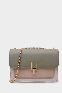 Assorted Colours Contrast Colours Gold Chain Bag