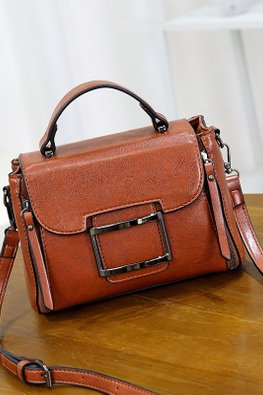 Assorted Colours Rectangular Buckle Bag