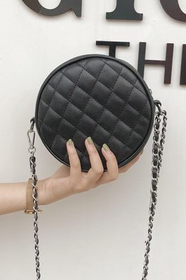 Assorted Colours Quilted Circle Bag