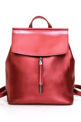 Metallic Red / Gold Front Zip Backpack