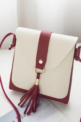 Assorted Colours Square Envelope Sling Bag