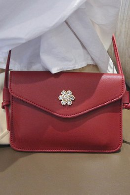 Assorted Colours Floral Jewel Mini Sling Bag