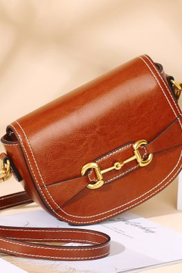 Black / Brown Cow Leather Mini Bag
