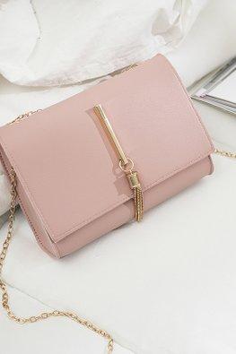 Assorted Colours Rectangular Chain Sling Essentials Bag
