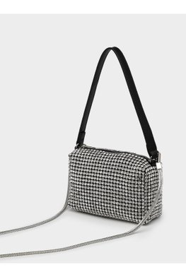 Black Full Crystal Handbag